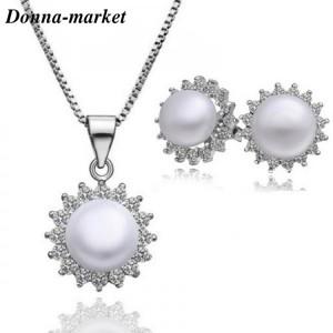 Комплект бижута - АРИЕЛ ,естествена перла