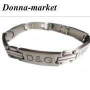Гривна от стомана - D&G , silver
