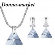 Бижута Сваровски - XILION TRIANGLE Blue Shade , Swarovski Crystal