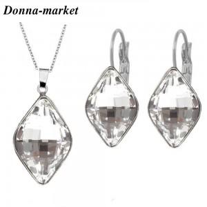 Бижута с кристали на Swarovski - LEMON , Crystal