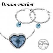 Бижута - SWAROVSKI Bead Heart Denim Blue 14mm