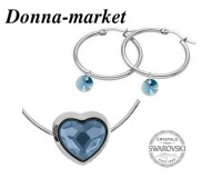 Бижута - SWAROVSKI Bead Heart Denim Blue 14mm