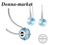 Бижута - SWAROVSKI Pave Beads Aquamarine 14mm
