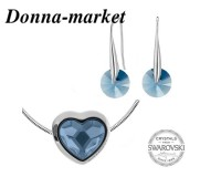 Бижута - SWAROVSKI Pave Beads Heart Denim Blue 14mm