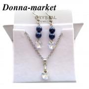 Бижута с кристални перли на Swarovski - NIGHT BLUE