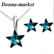Комплект Бижута  - STAR Bermuda Blue , кристали на Swarovski