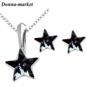 Комплект Бижута  - STAR Silver Night , кристали на Swarovski