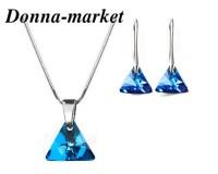 Бижута с кристали на Swarovki® - XILION TRIANGLE Bermuda Blue