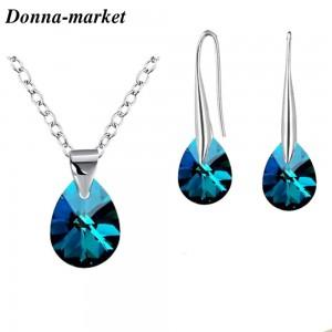 Бижута с кристали на Swarovski - Mini Pear , Bermuda Blue
