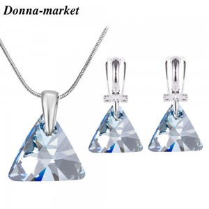 Бижута с кристали на Swarovski - TRIANGLE , Blue Shade