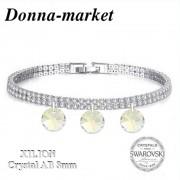 Дамска Гривна - Swarovski AB Crystal  8mm