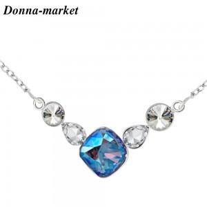 Колие - SHINE Sapphire  , кристали на Swarovski
