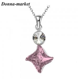 Колие - TWISTER Antique Pink , кристали на Swarovski