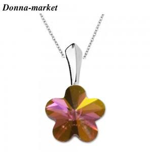 Колие - MINI FLOWER lilac , кристали на Swarovski