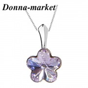 Колие - MINI FLOWER violet , кристали на Swarovski