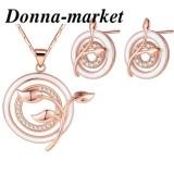 Комплект бижута - АЛБЕРТА , 18К розово златно покритие