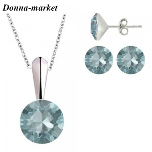 Комплект Бижута - CHATONS AQUAMARINE , кристали на Swarovski