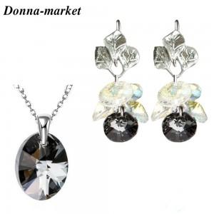 Комплект Бижута - DOROTI , Silver Night кристали на Swarovski