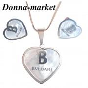 Комплект бижута от стомана - BLGARI , седеф