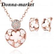 Комплект бижута - ДИОНА , 18K розово златно покритие
