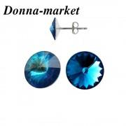 Обеци - BERMUDA BLUE , кристали на Swarovski