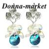 Обеци с кристали на Swarovski - DOROTY , Bermuda Blue