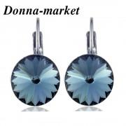Обеци с кристали на Swarovski  - RIVOLI , Denim Blue