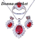 Луксозен комплект бижута - ЕЛИЗАБЕТ silver колие ,обеци и пръстен