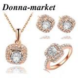 Луксозен комплект бижута - ЕЛЕГАНС , колие ,обеци и пръстен Сваровски кристали